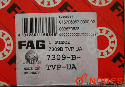 FAG 7309-B-TVP-UA Angular contact ball bearings