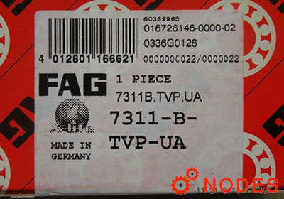 FAG 7311-B-TVP-UA Angular contact ball bearings