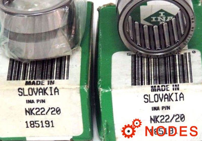 INA NK22/20-XL needle bearings
