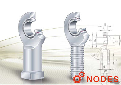 INA rod ends bearing, maintenance-free