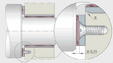 Note the guidelines relations to machining of INA plain bearings