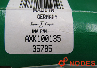 INA AXK100135 bearing | 100x135x4 mm