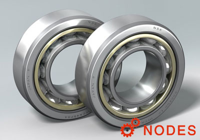 NSK angular contact ball bearings outer ring guided