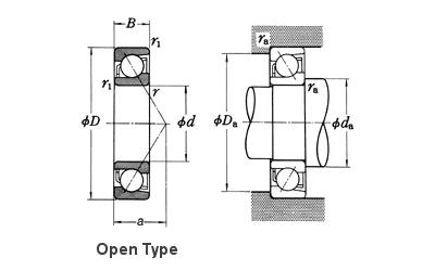 NSK 7917A5 Angular Contact Ball Bearings - Nodes bearing