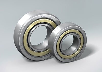 NSK Cylindrical Roller Bearing - Outer ring guided brass cage