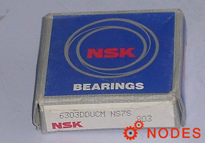 NSK 6303DDU Deep groove ball bearings
