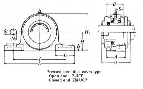 NSK ZM-UCP210D1 pillow block bearings - Nodes bearing