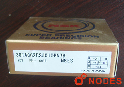 NSK 30TAC62BSUC10PN7B ball screw support bearings | 30x62x15