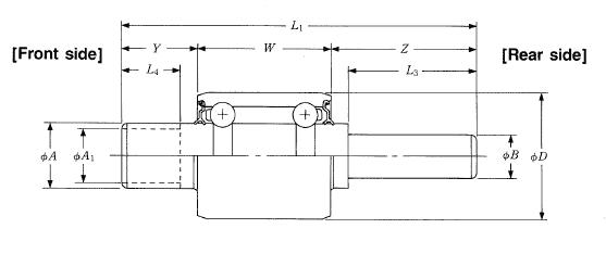 NSK BWF40-17R water pump bearings - Nodes bearing