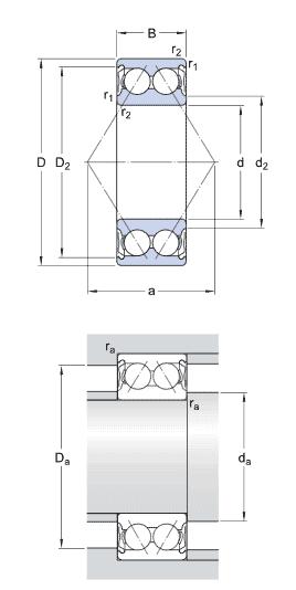 SKF 3312 A-2Z/C3 ball bearings - Nodes bearing