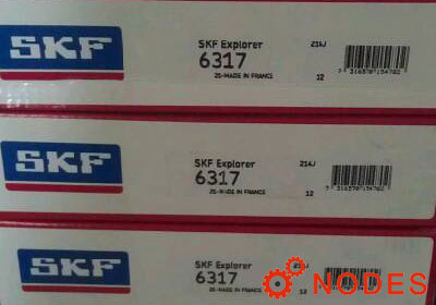 SKF 6317 single row deep groove ball bearings