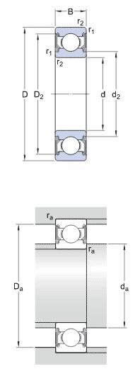 SKF 6202-2RSH single row deep groove ball bearings - Nodes