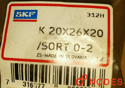 SKF K20x26x20 needle bearings
