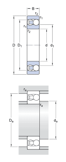 SKF 2217 ball bearings - Nodes bearing