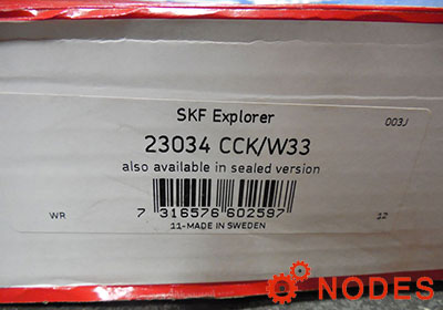 SKF 23034CCK/W33 spherical roller bearings